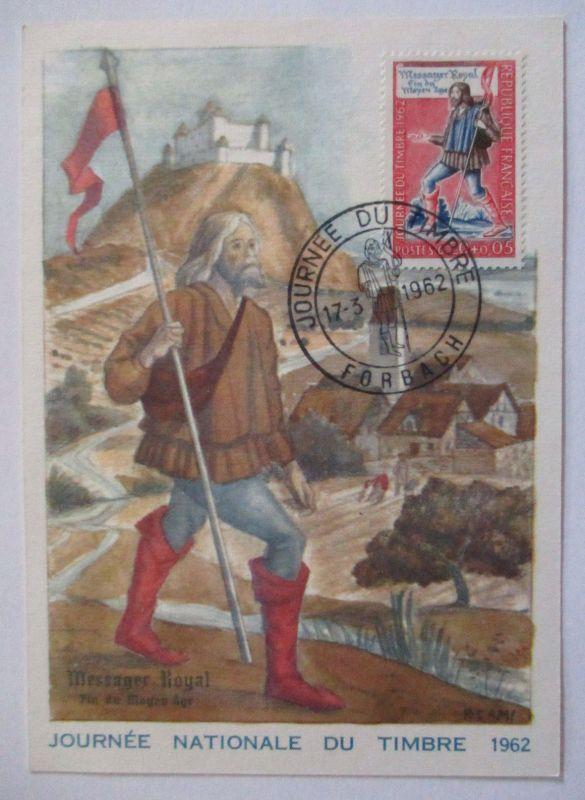 Frankreich, Maximumkarte von 1962, Tag der Briefmarke (44829)