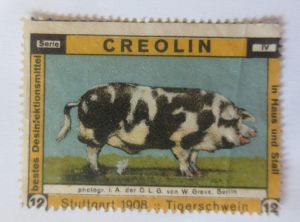Vignetten, Creolin Desinfektionsmittel, In Haus und Stall,  1908  ♥ (55762)