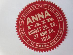 Vignetten, Siegelmarke, Anna Fair 1914  ♥  (38510)