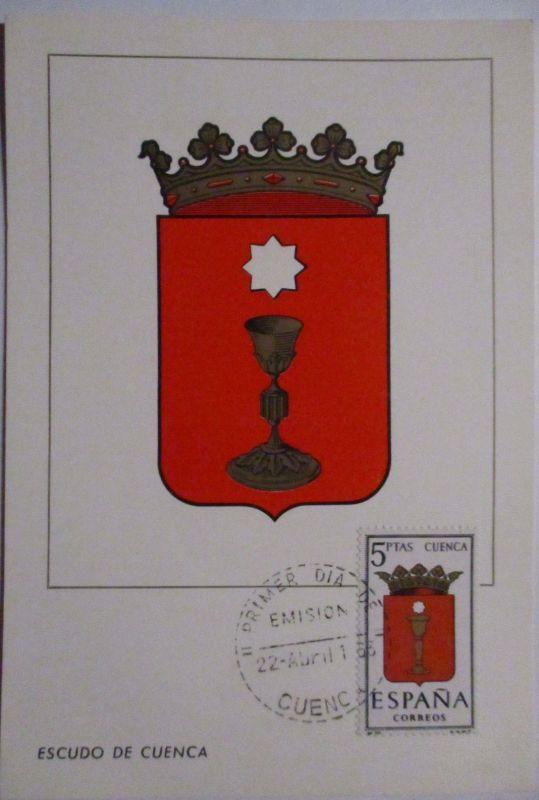 Spanien Maximumkarte  von 1963 Wappen Cuenca (61664)