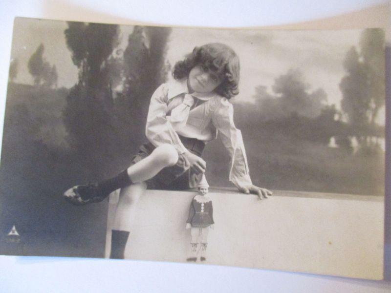 Kinder, Spielzeug, Hampelmann, Fotokarte 1906 aus Demmin (36075)