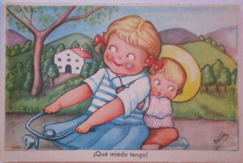 Fahrrad, Kinder, Que miedo tengo, ca. 1940 (21012)