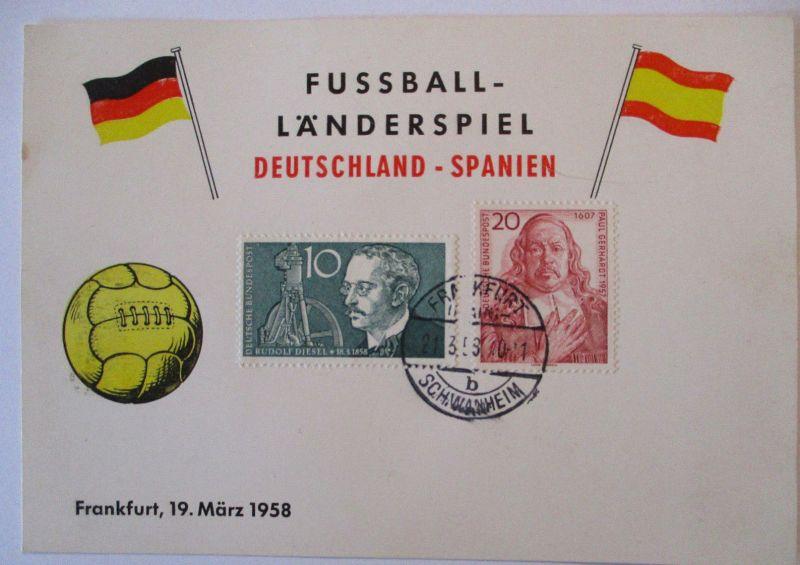 Fußball Länderspiel Deutschland Spanien 1958 in Frankfurt (39860)