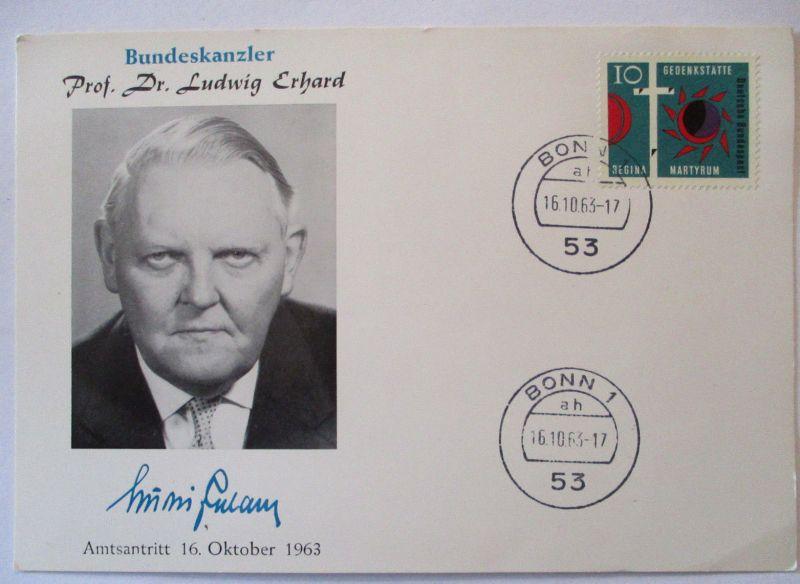 Deutschland, Bundeskanzler Ludwig Erhard Amtsantritt 1963 (28189)