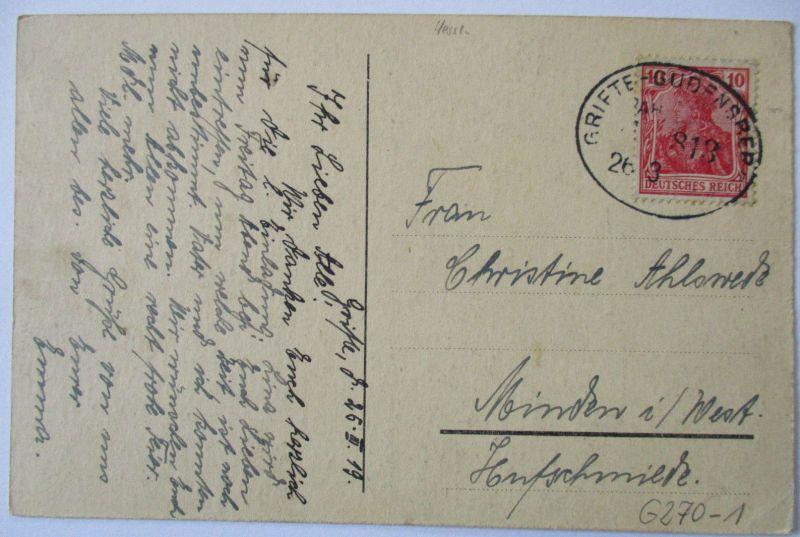Bahnpost Drifte Gudensberg AK 1919 (9477)