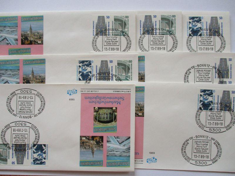 Bund, Sehenswürdigkeiten, 7 Zusammendruck FDC von 1989 (51250)