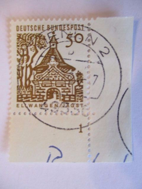 Bund, Nr. 458 gestempelter Eckrand mit Formnummer (32135)