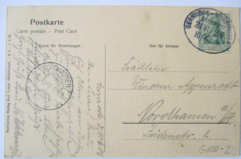 Bahnpost Gernrode Nordhausen, AK Bad Suderode 1906 (56783)