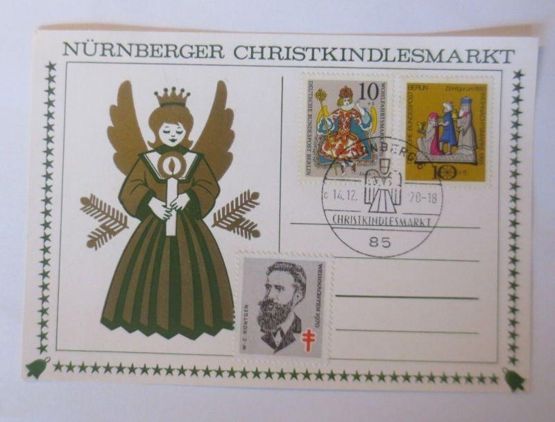Maximumkarte Nürnberger Christkindlesmarkt, Christkindl 1970 ♥  (12731)