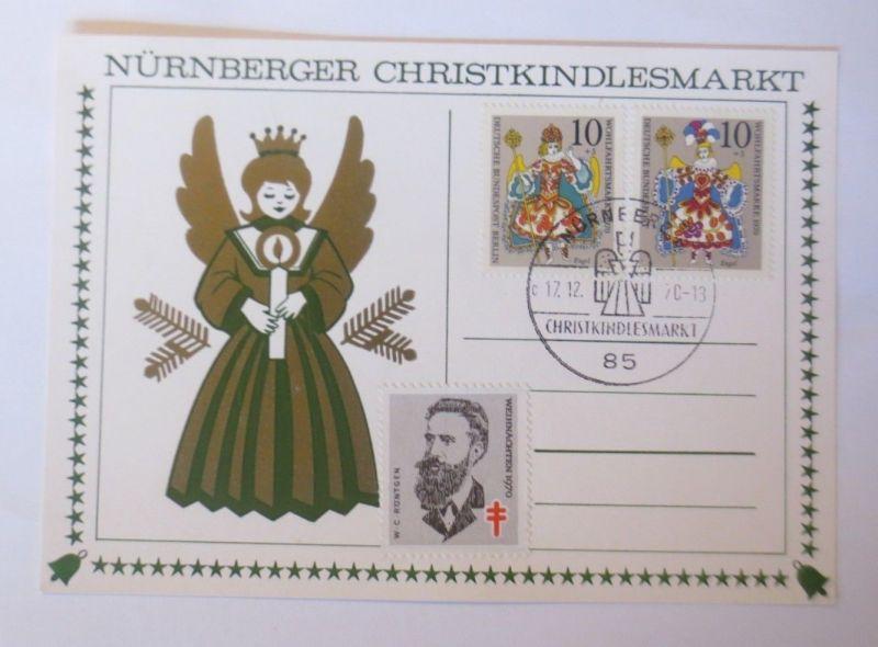 Maximumkarte Nürnberger Christkindlesmarkt 1970 ♥  (49258)