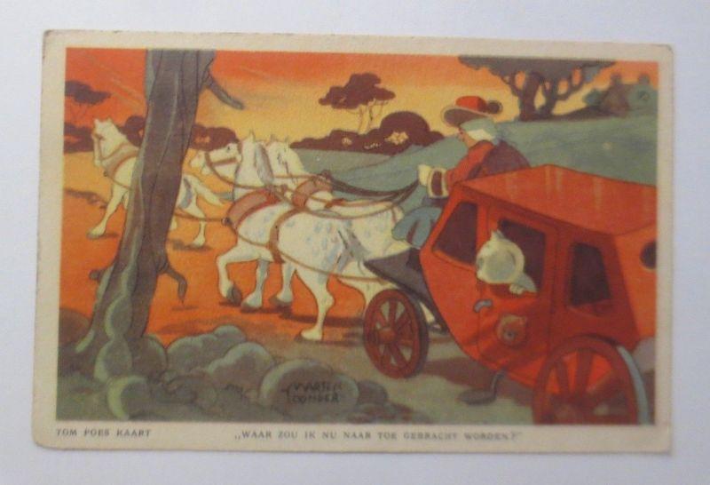 Tim  Poes Karte, Katzen, Kutsche,   1928, Warthe Yoonder  ♥ (60145)