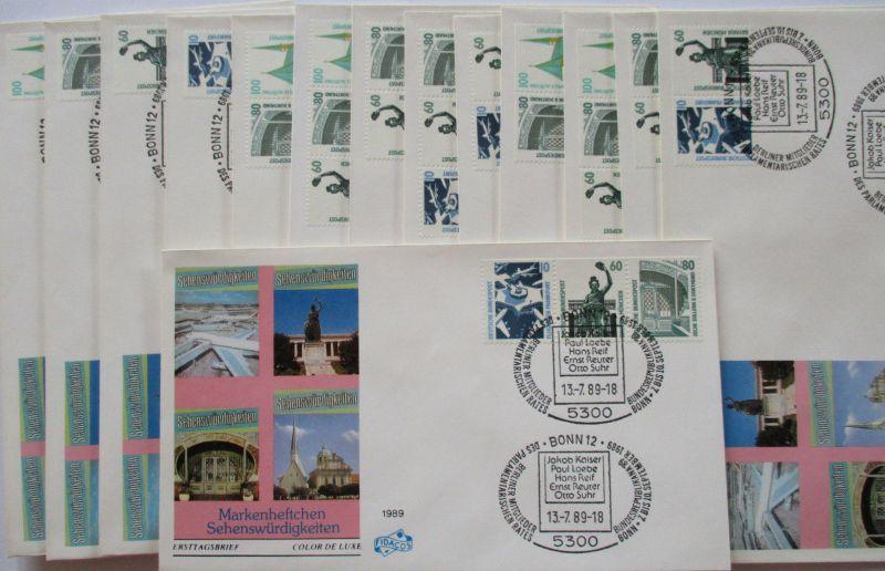 Bund, Sehenswürdigkeiten, 14 Zusammendruck FDC von 1989 (44595)
