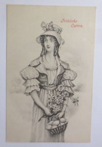 Ostern, Frauen, Mode, Korb, Eier,     1909  ♥ (67684)