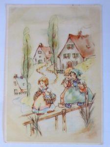 Kinder, Mode, Korb, Blumen,     1943  ♥ (68504)