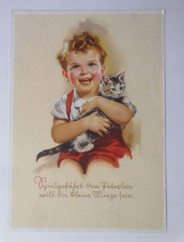 Katzen, Kinder,  1945 ♥ (66203)