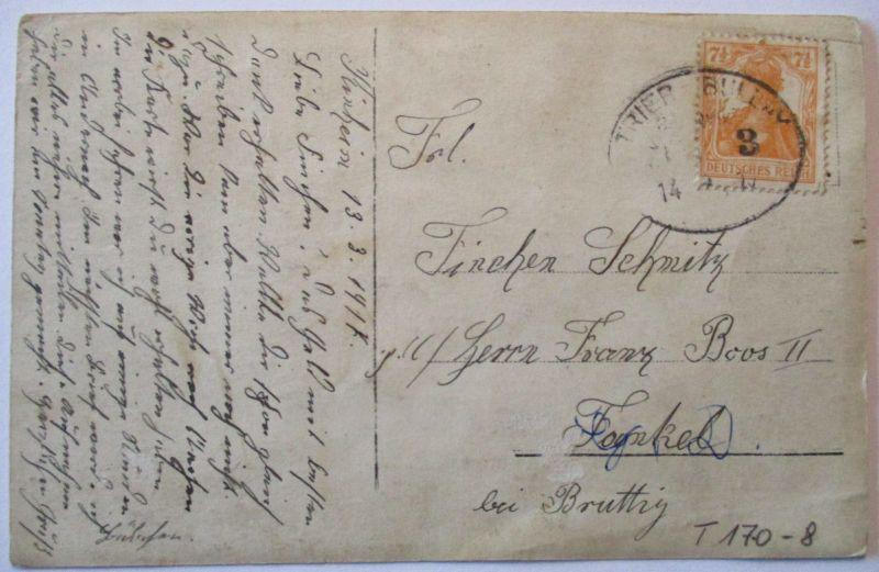 D.Reich Bahnpost Trier Bullay Zug 3, 1917 AK Soldaten in Kinheim (61064)