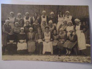 Berufe, Hauswirtschaft, Frauen, Schulklasse, Fotokarte ca. 1910 (32605)