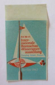 Vignetten, Internationale Bootschau Wassersportausstellung 1962 ♥ (46016)