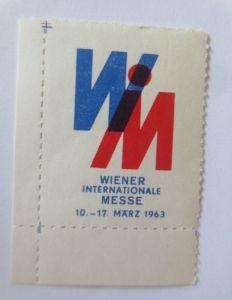 Vignetten, Wiener Internationale Messe  1963   ♥ (2334)