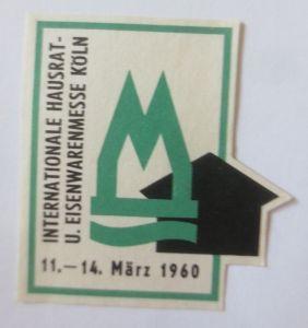 Vignetten, Internationale Hausrat- U. Eisenbahnmesse Köln 1960   ♥ (48909)