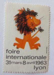 Vignetten,  Foire Internationale   1963 Lyon Frankreich ♥ (42257)