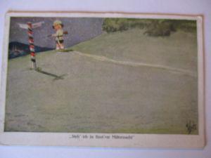 Kinder WW 1, Steh ich in finstrer Mitternacht, Feldpost 12. LWD 1916 (41237)