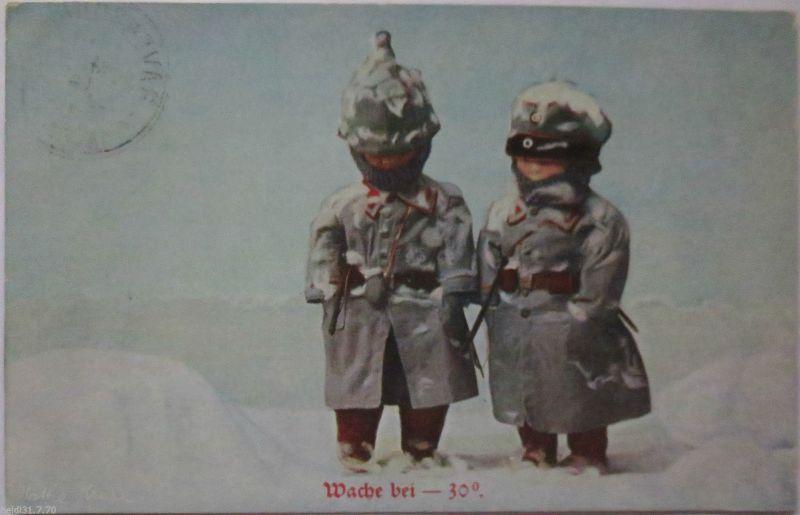 Soldaten - Puppen im Winter, Wache bei -30°, Käthe Kruse, 1916 ♥ (19942)
