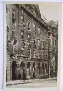 Deutsche Soldaten mit Stahlhelm an der Front, Fotokarte (46030)