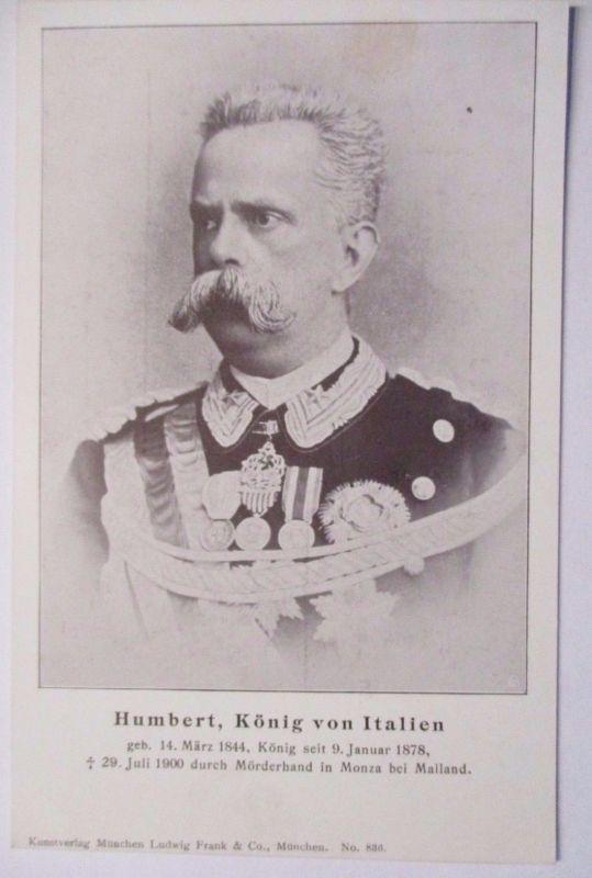 Italien, König Humbert von Italien, Trauerkarte 1900 (46628)