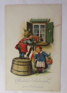 Namenstag, Kinder, Soldaten, Fahne, Österreich, Deutschland,  1916 ♥ (46487)
