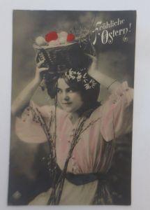 Ostern, Frauen,  Mode, Weidenkätzchen, Ostereier,   1911 ♥ (42951)