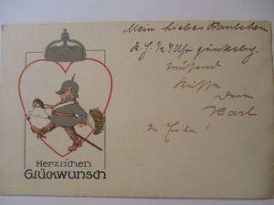 Kinder WW 1, Herzlichen Glückwunsch, München 1916 (7949)
