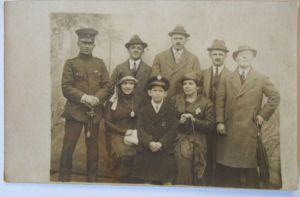 Deutscher Soldat mit Familie, Fotokarte (5376)