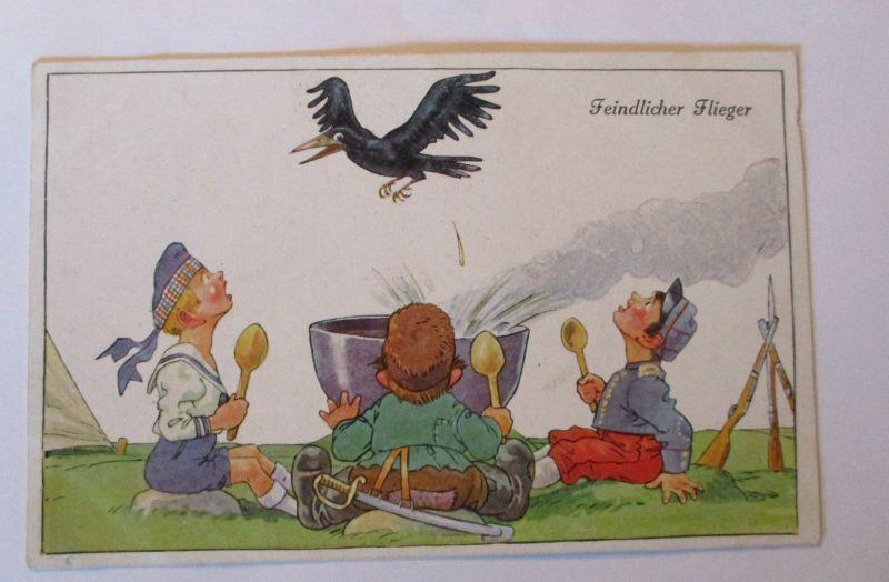 Kinder, Soldat, Feindlicher Flieger, 1916, W. Dertel ♥ (36294)