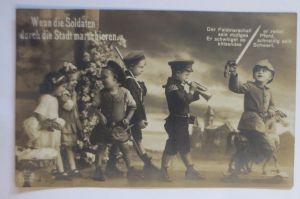 Frankreich, Soldaten vor Unterstand, Fotokarte (68934)