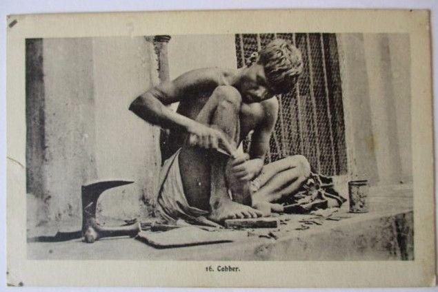 Berufe, Schuster, Schuhe, Indien ca. 1910 (23672)