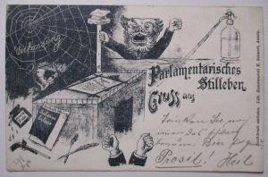 Deutschland Österreich Soldaten vor Unterstand, Fotokarte (28167)