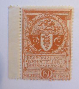 Vignetten, Esposizione Filatelica Internationale Milano, 1906 ♥ (70514)