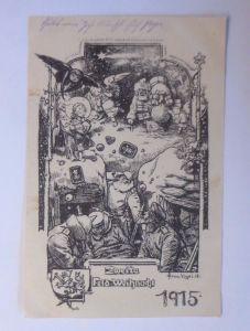 Weihnachten, Weihnachtsmann, Christkind, Zweite Feld-Weihnacht, 1915 ♥ (61967)