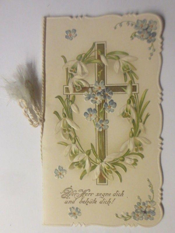 Klappkarte,  Konfirmation, Jugendstil,  1900  ♥ (70644)
