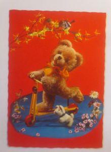 Teddy, Roller, Hund, Vogel, 1960 ♥  (39267)