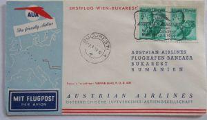 Österreich AUA Erstflug Wien-Bukarest 1959 (21238)