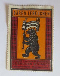 Vignetten, Bären-Lebkuchen Lebkuchenfabrik Mainbernheim Bayern 1960 ♥ (32723)