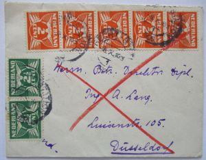 Niederlande, Eilbotenbrief von Utrecht nach Düsseldorf (45356)