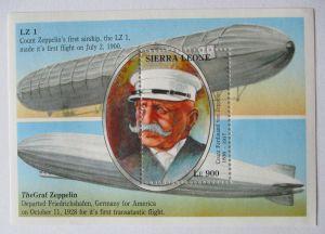 Sierra Leone, Block Graf Zeppelin postfrisch (66338)