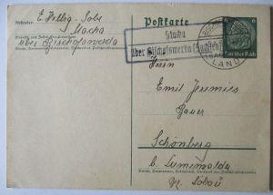 Landpoststempel Stacha bei Bischofswerda, Ganzsache (33613)