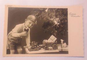 Weihnachten, Kinder, Spielzeug, Lebkuchen, Weihnachtsbaum,    1938 ♥  (2981)