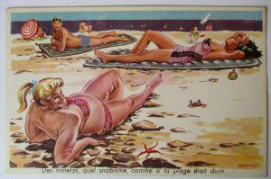 Meer, Strand, Baden, Bademode, Frauen,  ca.40er Jahre (51593)