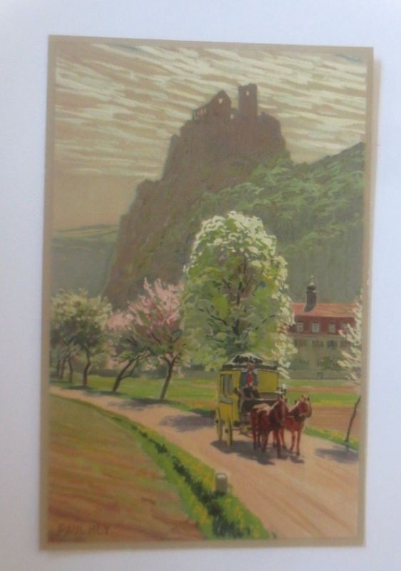 Künstlerkarte, Paul Hey, Im Blütenflor, Meissner & Buch,  1914  ♥ (28540)