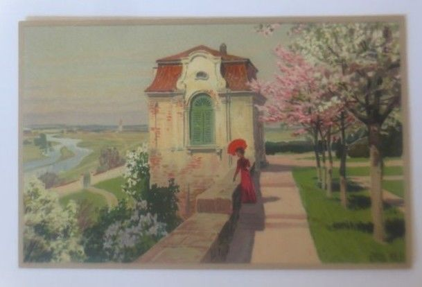 Künstlerkarte, Paul Hey,  Im Blütenflor,  Meissner & Buch    1914  ♥ (55210)